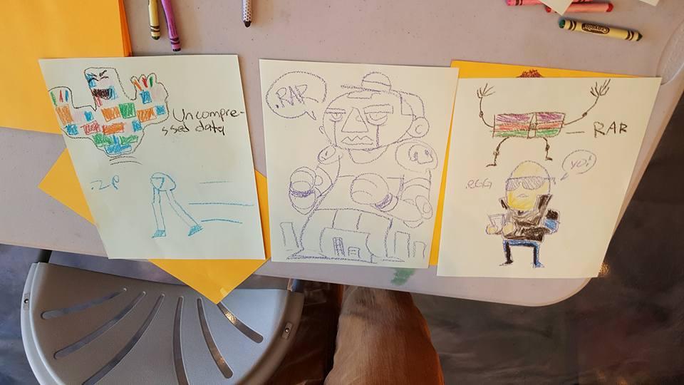 Gabo art jam with some kids