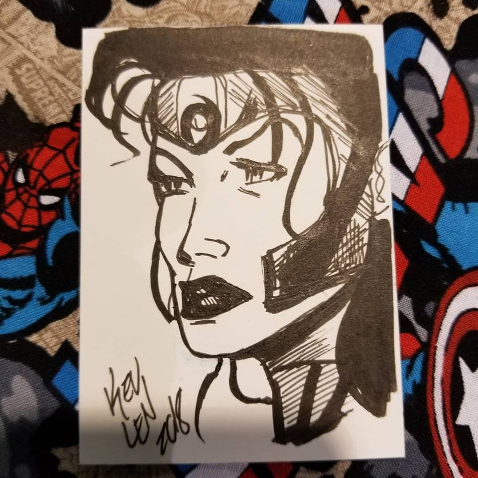 Voodoo sketchcard by my table neighbor, Kelvin Goodner