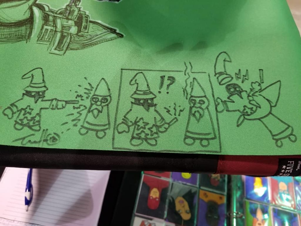 Art cloth sketch I did - the guy wanted the Gnome King from @$$hole! doing something funny