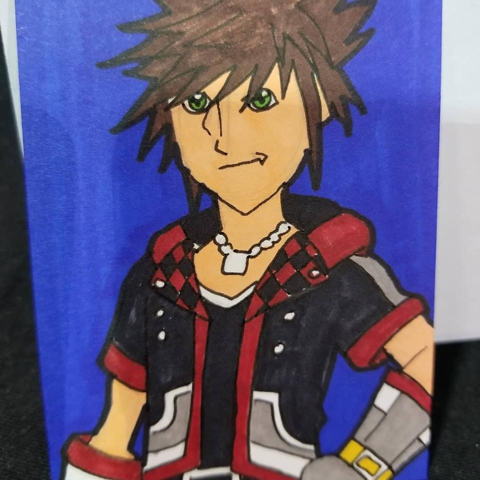 Sora sketch card commission